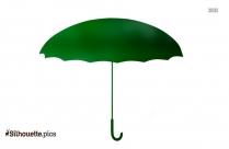 Open Umbrella Silhouette Background