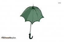 Open Umbrella Silhouette Image Free Download