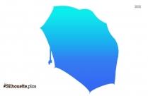 Open Umbrella Silhouette Background Image