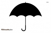 Cartoon Cute Umbrella Silhouette