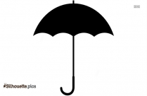 Open Umbrella Silhouette Background Image For Free