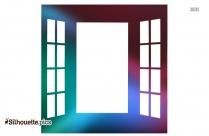 Open Window Clipart Silhouette
