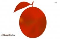 Cartoon Tomato Silhouette