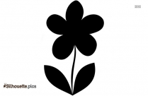 Single Flower Logo Silhouette For Download