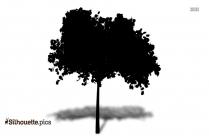Green Tree Silhouette Art