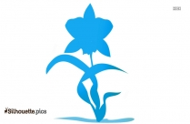 Orchid Flower Silhouette Image And Vector