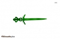 Ornate Dagger Silhouette
