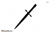 Medieval Swords Silhouette Clipart Image