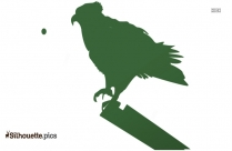 Osprey Standing On Branch Clip Art Silhouette