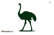 Ostrich Art Silhouette Icon