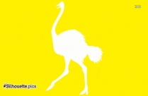 Two Ostriches Silhouette
