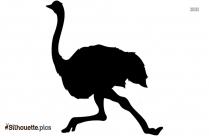 Ostrich Running Silhouette Clip Art