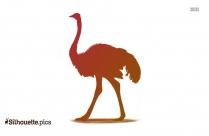 Ostrich Silhouette Face