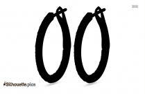 Oval Earrings Silhouette Clipart