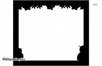 Fall Borders Silhouette Clipart