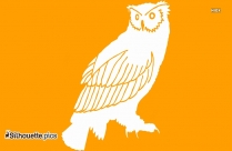 Owl On Branch Silhouette Clip Art
