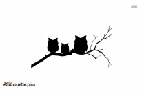 Cartoon Owl In Tree Silhouette