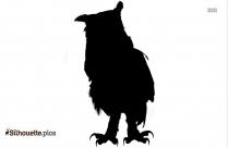 Owl Silhouette Sitting