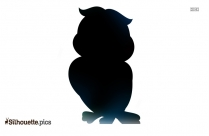 Cute Baby Owl Silhouette Image And Vector