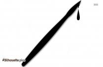 Paint Brush Silhouette