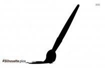 Paintbrush Drawing Silhouette