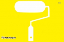 Paint Roller Silhouette Drawing