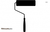 Paint Roller Silhouette Image