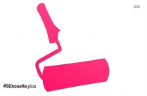 Paint Roller Silhouette Image And Vector