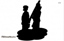 Pair Of Villagers Silhouette