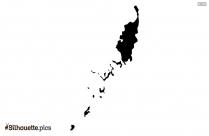 Pakistan Map Silhouette Art