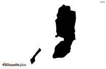Palau Map Black And White