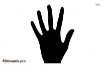 Palm Of Hand Silhouette Drawing
