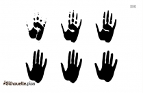 Black And White Hand Silhouette Art
