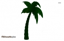 Tropical Trees Silhouette