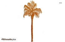 Palm Tree Drawing Silhouette
