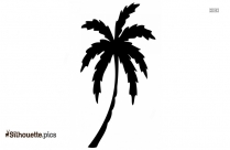 Cartoon Palm Tree Drawing Silhouette