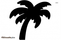 Palm Tree Silhouette Clipart Image