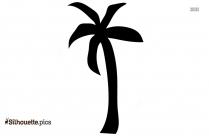 Black And White Cartoon Tree Silhouette