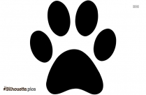 Panther Paw Print Silhouette Clip Art
