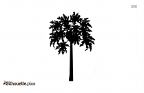 Cartoon Tropical Tree Vector Silhouette