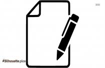 Paper Pen Vector Silhouette