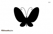 Cartoon Female Butterfly Silhouette Vector And Graphics