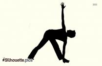 Parivrtta Trikonasana Yoga Pose Silhouette