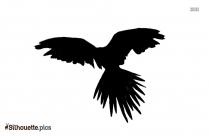 Black Flying Bird Cartoon Silhouette Image
