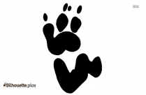 Paw Print Silhouette Clipart