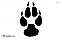 Paw Print Silhouette Background, Vector