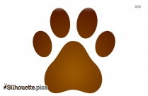 Silhouette Of Dog Paw Print