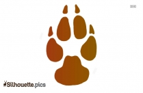 Silhouette Of A Paw Print