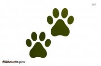 Animal Footprint Silhouette Free Vector Art
