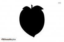 Peach Fruit Silhouette Clipart Vector